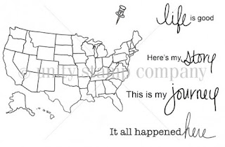 Unity Stamps, stamping, US Map