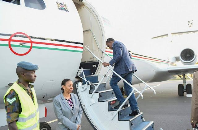 President Kenyatta travelled to Italy for G7 Summit. PHOTO | PSCU