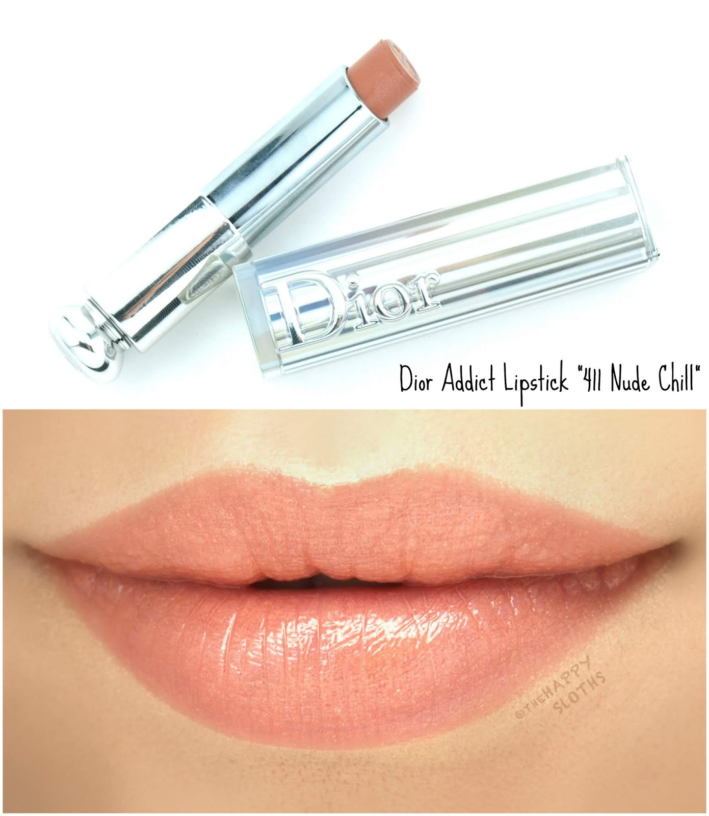"Dior | Summer 2018 Dior Addict Lipstick in ""411 Nude Chill"": Review and Swatches"