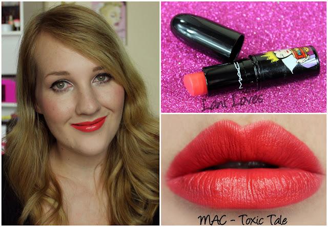 MAC Toxic Tale lipstick swatch