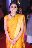Shalini Pandey in Beautiful Orange Saree Sleeveless Blouse Choli ~  Exclusive Celebrities Galleries 052.JPG