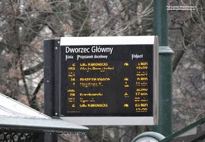 """Kraków ul. Basztowa - przystanek """"Dworzec Główny"""""""