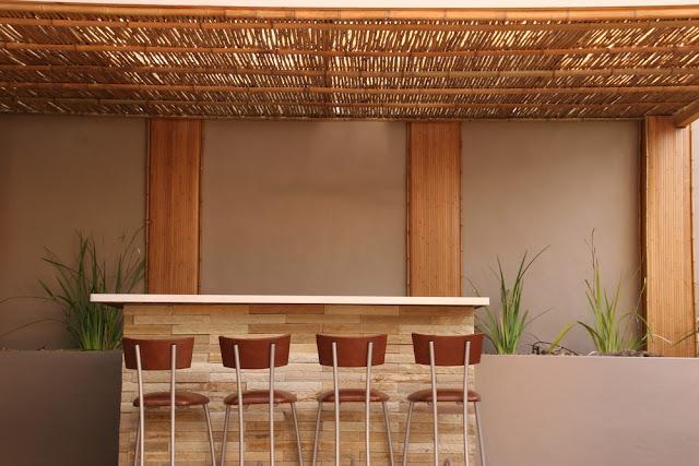 Desain Plafon Bambu