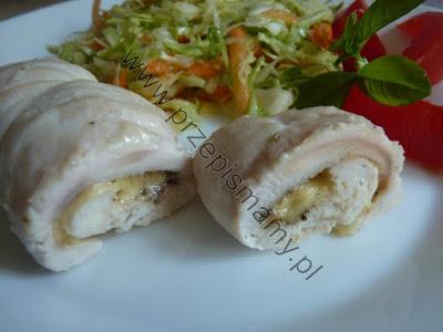 Filet z kurczaka zapiekany w sosie