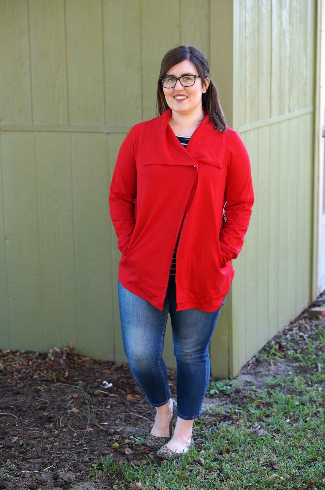 Rebecca Lately Stitch Fix Kensie Mally Ponte Jacket