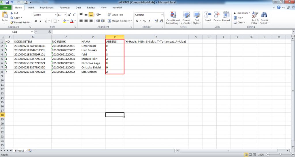 Cara Mengisi Absensi Guru Di Simpatika Upload Data Via File Excel