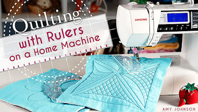 free motion quilting with rulers class