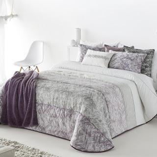 Colcha Bouti modelo Sole color Malva de Antilo Textil