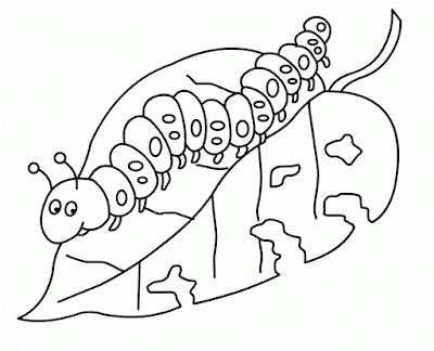 Gambar Mewarnai Ulat Imut - 4