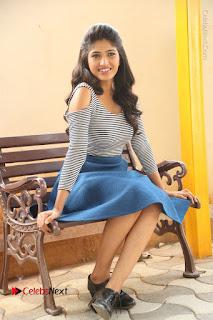 Telugu Actress Roshini Prakash Stills Short Dress at Saptagiri Express Release Press Meet  0185.JPG