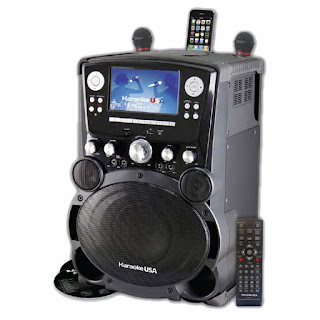 "Karaoke USA GP975 80 Watt Professional DVD/CDG/MP3G Karaoke Player with 7"" Color"