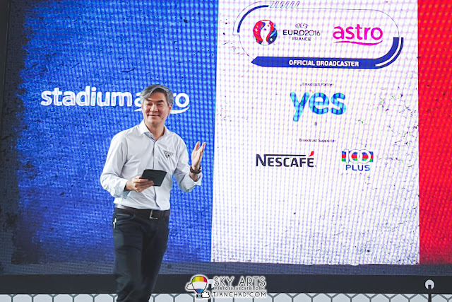 Mr Henry Tan, Astro Chief Operating Officer at UEFA EURO 2016 Kick Off event