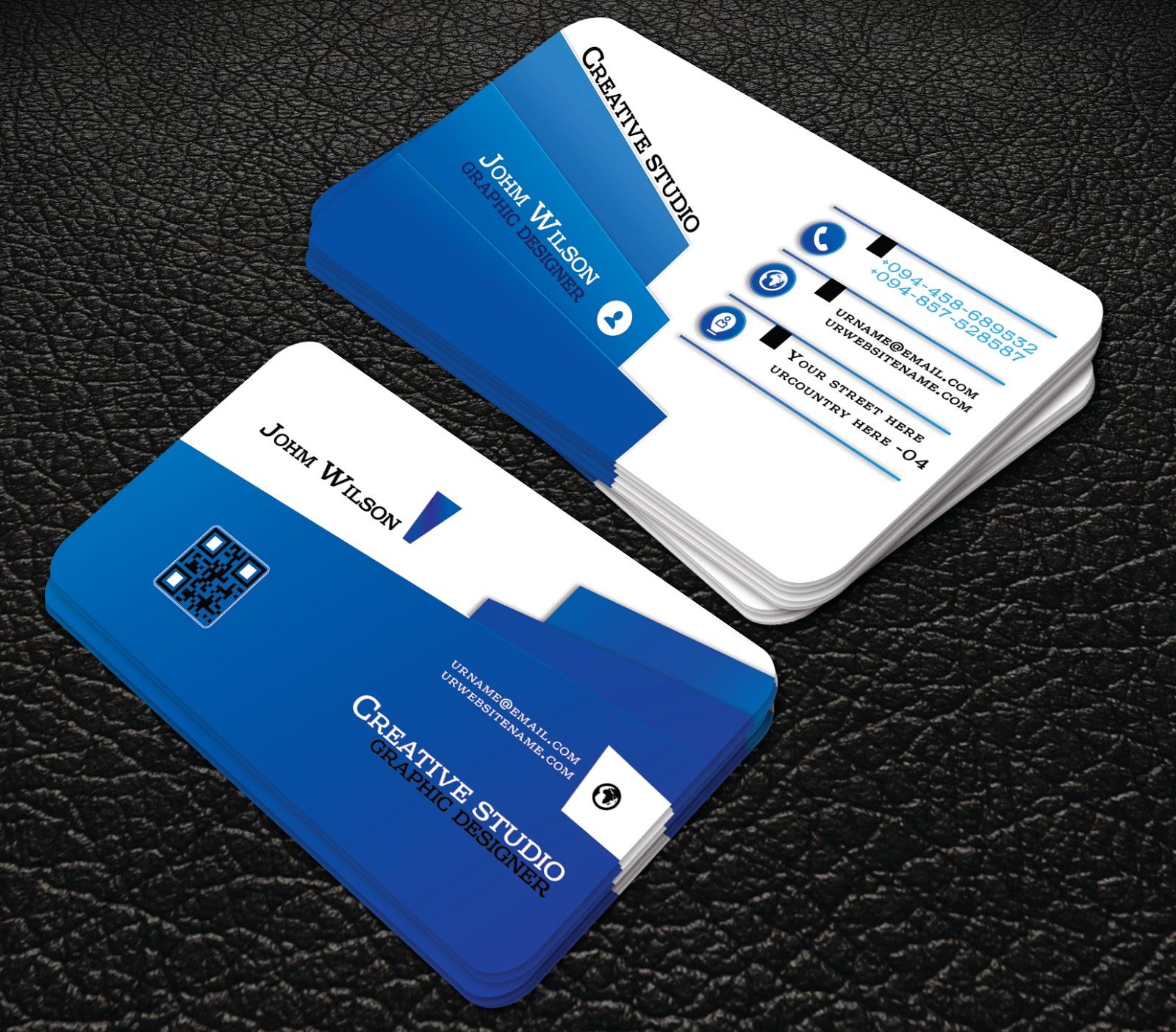 blue colour Creative Corporate Business Card | professional business ...