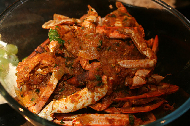 Malay Style Hot Curried Crab