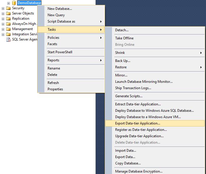 Moving SQL Azure to local SQL or Azure SQL to VM SQL