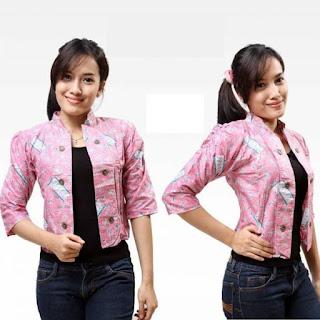 Model Cardigan Batik Wanita Modern