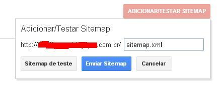 enviar sitemap blog