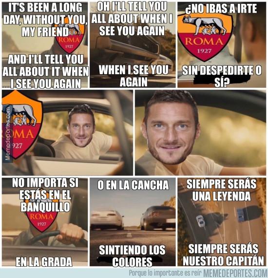 Se retira Totti, siempre serás nuestro capitán