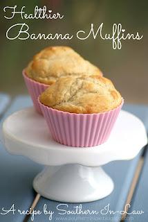 Gluten Free Healthier Banana Muffins Recipe