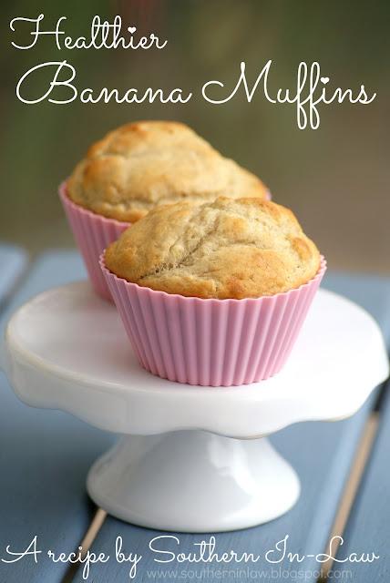 Healthier Banana Muffins - low fat, gluten free