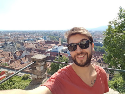 schlossberg graz avusturya austria selfie