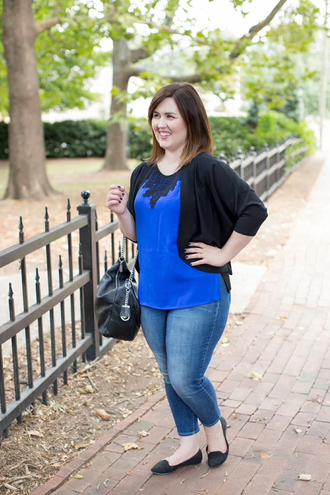 Rebecca Lately Stitch Fix Brixon Ivy Willard Lace Overlay Blouse outfit