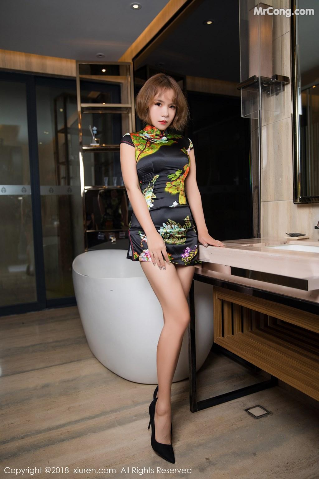 Image XIUREN-No.1264-Ya-Wen-MrCong.com-007 in post XIUREN No.1264: Người mẫu Ya Wen (雅雯) (61 ảnh)