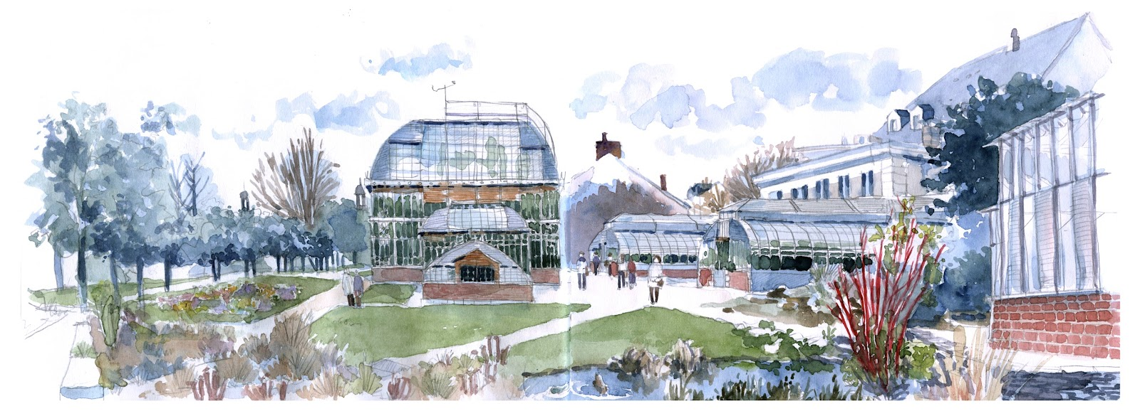 URBAN SKETCHERS FRANCE: Le jardin des Plantes de Nantes, en long, en ...