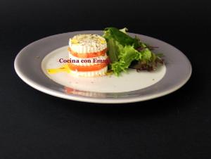 Milhoja de queso y tomate