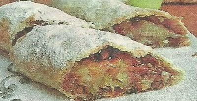 Ингредиенты и способ приготовления рулета с яблочной начинкой