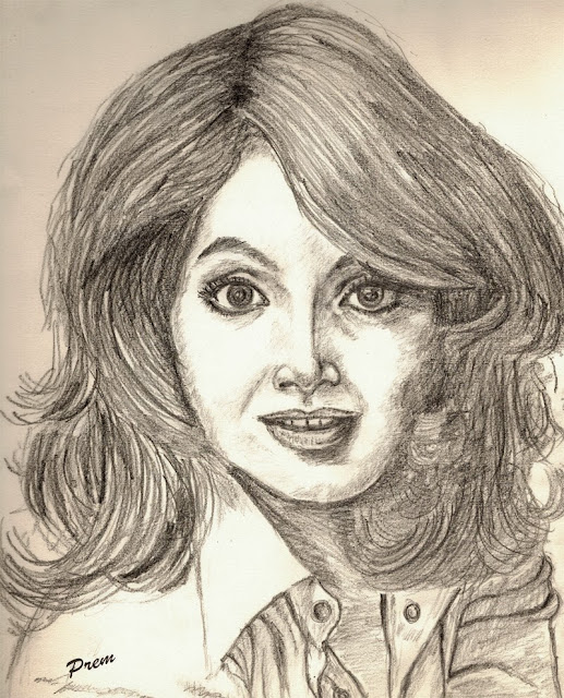 Sketch of Bipasha Basu