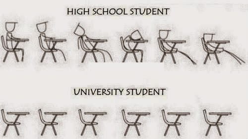 Funny High School vs University Student Picture