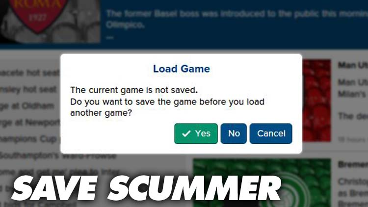 Save Scummer Football Manager