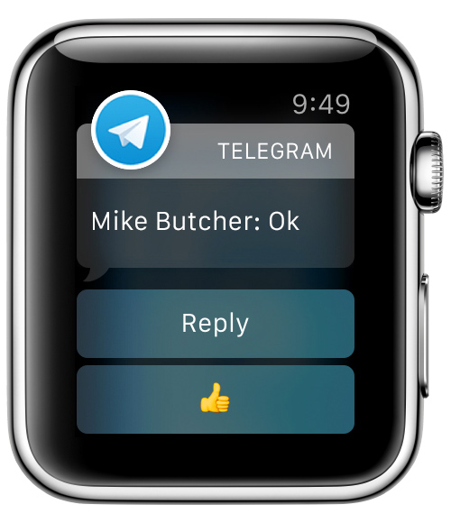 Telegram no Apple Watch