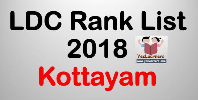 LDC Rank List 2018 - Kottayam