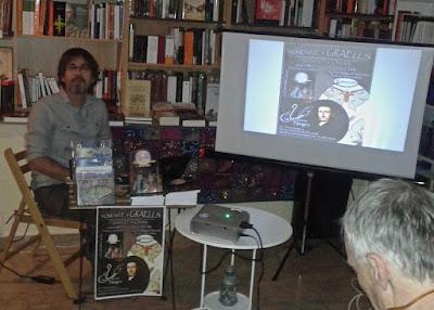 """Homenaje a Graells en la Librería """"Cisne Negro"""" de San Lorenzo de El Escorial."""