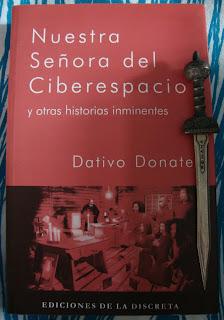 Portada del libro Nuestra Señora del Ciberespacio,  de Dativo Donate