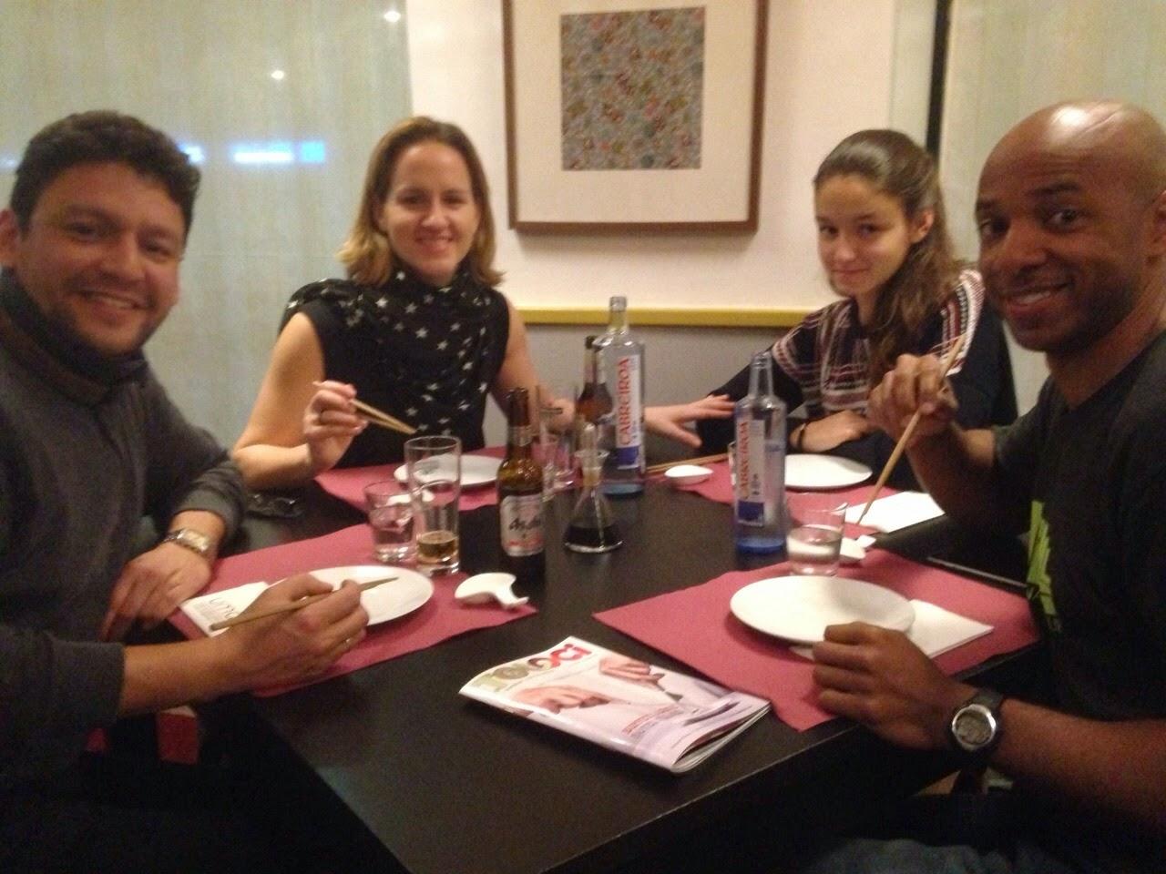 Japanese dinner in Spain