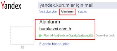 Yandex'in DNS barındırıcısı