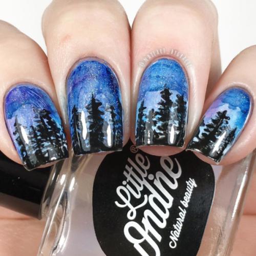 Winter Forest Nail Art Essentials Inspiration