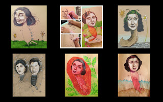 Gambar Ilustrasi karya Mica Angela Hendriks dan anaknya; Gambar Ilustrasi karya Mica Angela Hendriks dan anaknya; Imajinasi anak yang lucu dan luar biasa