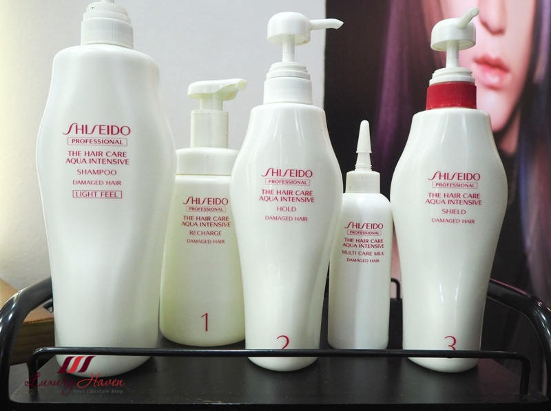 h4u salon shiseido intensive 5 step hair treatment