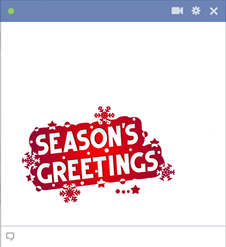 Season Greetings Sticker for Facebook
