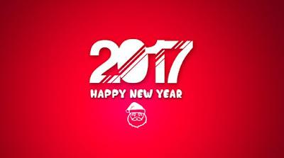 Gambar Ucapan Tahun Baru 2017 Lucu Happy New Year Wallpaper HD Merah