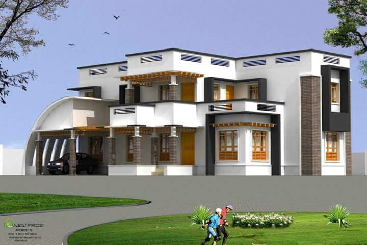 sq ft 4 bhk contemporary kerala house design