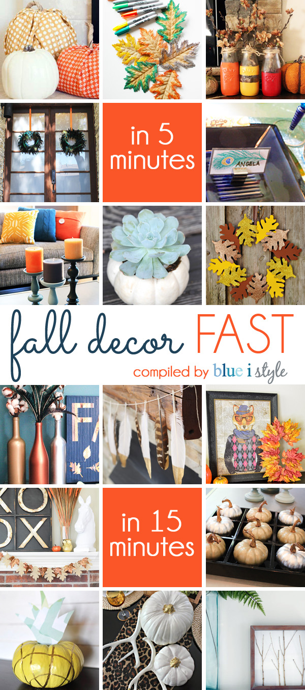 Fall Decorating in 5 Minutes and 15 Minutes