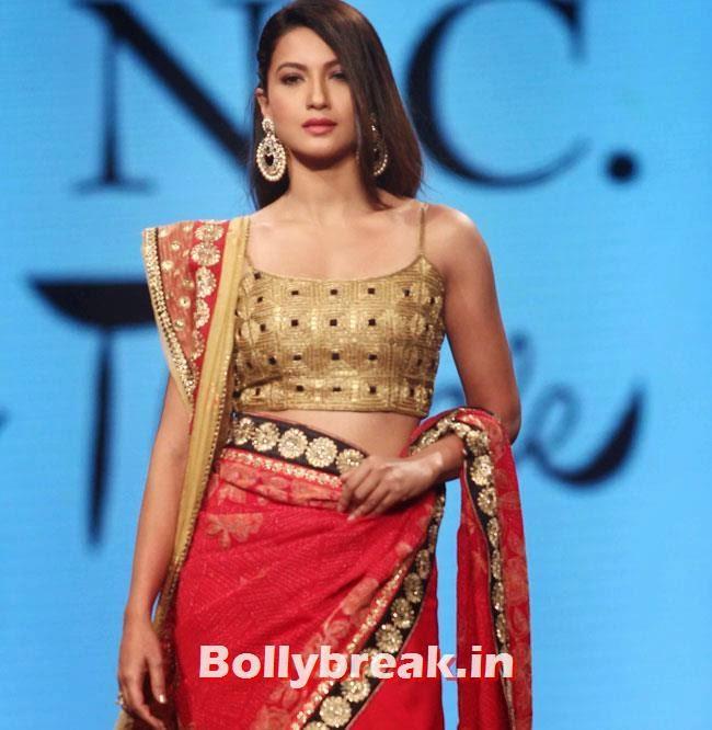 Gauhar Khan, Beautiful Bhagyashree, Gauhar, Tara, Perizad, Divya at Cancer Fundraiser Fashion Show