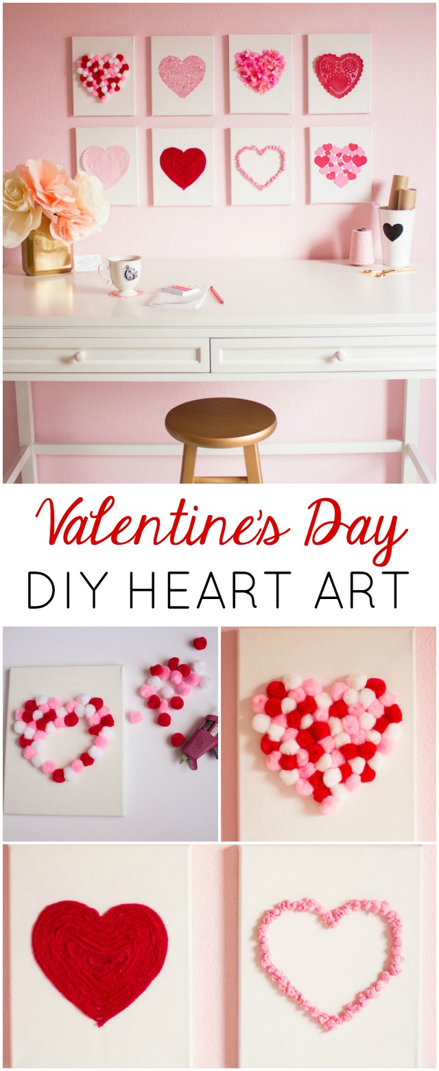Raid your craft supplies to make this heart art for Valentine's Day or year-round!