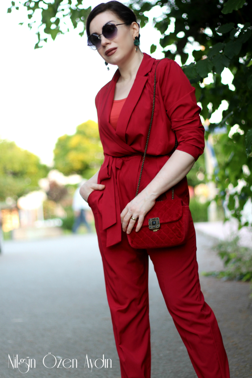 alışveriş-kırmızı tulum-shein-fashion blogger-moda blogu