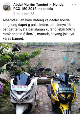 Perbandingan All Nw PCX 150 vs Aerox 155 dari depan
